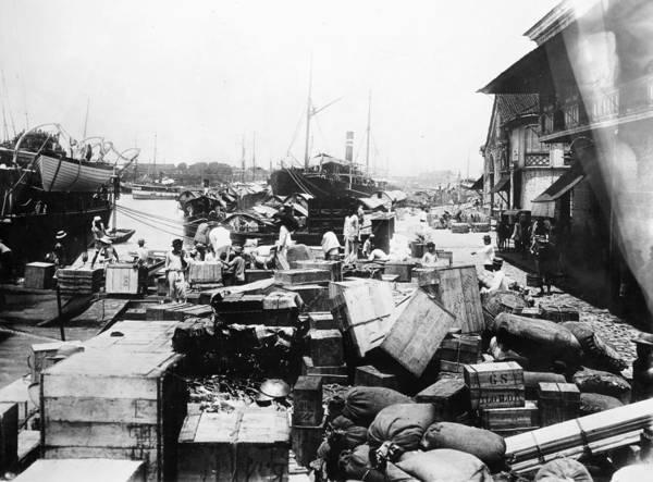 Photograph - Stevedores In Port by Granger