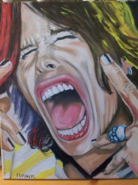 Steven Tyler Painting - Steven Tyler by Tim Turner