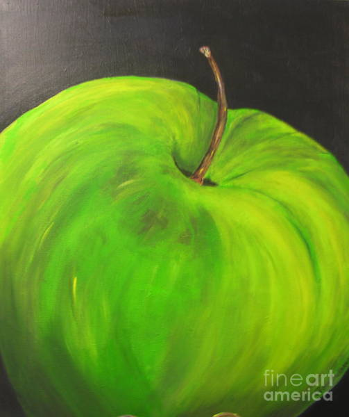 Painting - Steven's Apple by Peggy Dickerson