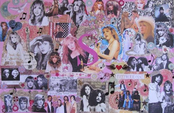 Stevie Nicks Photograph - Stevie Nicks Art Collage by Donna Wilson