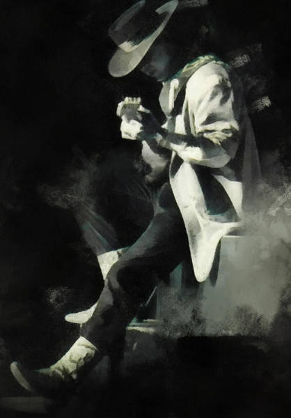 Digital Art - Stevie Ray by Paulette B Wright