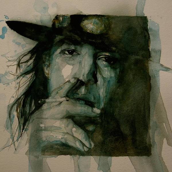 Guitarist Wall Art - Painting - Stevie Ray Vaughan by Paul Lovering