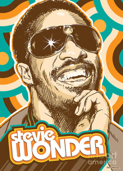 Wall Art - Digital Art - Stevie Wonder Pop Art by Jim Zahniser