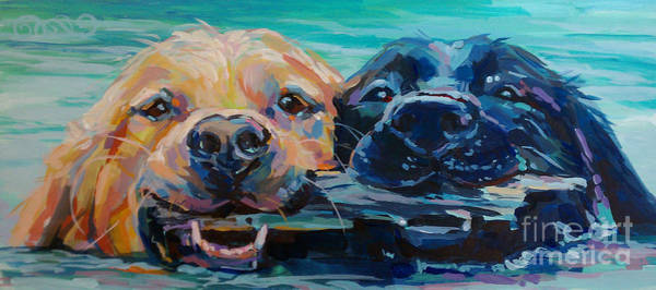 Golden Retriever Painting - Stick It by Kimberly Santini
