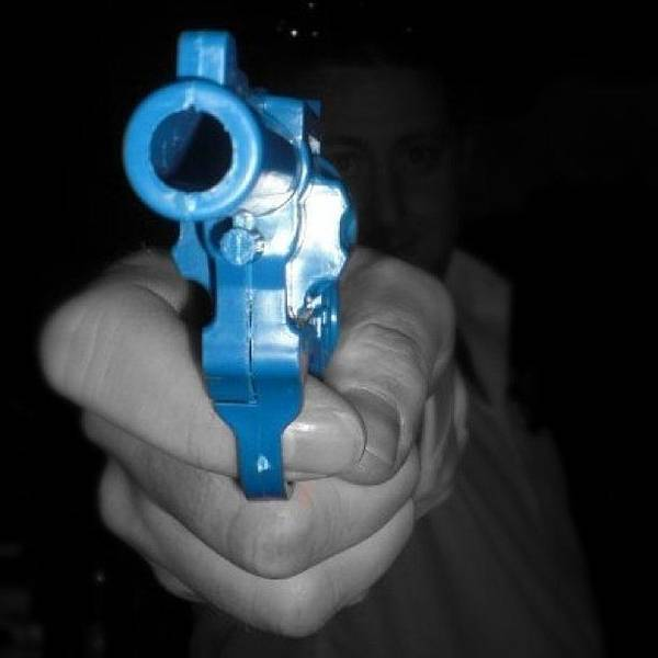 Toy Gun Photograph - Stick'em Up by James McCartney