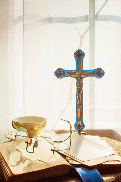 Crucifix Photograph - Still Life - Crossed Shadows by Jon Woodhams