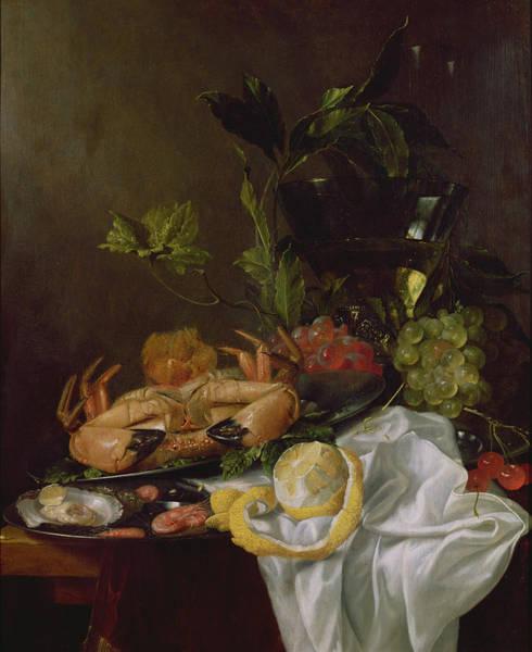 Shrimp Painting - Still Life, 17th Century by Pieter de Ring