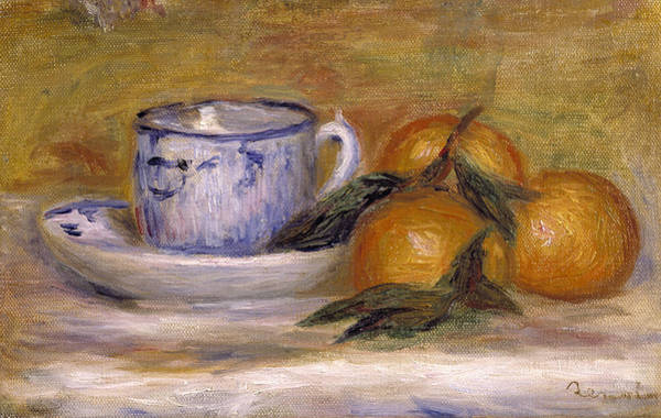 Saucer Painting - Still Life, C.1908 by Pierre Auguste Renoir