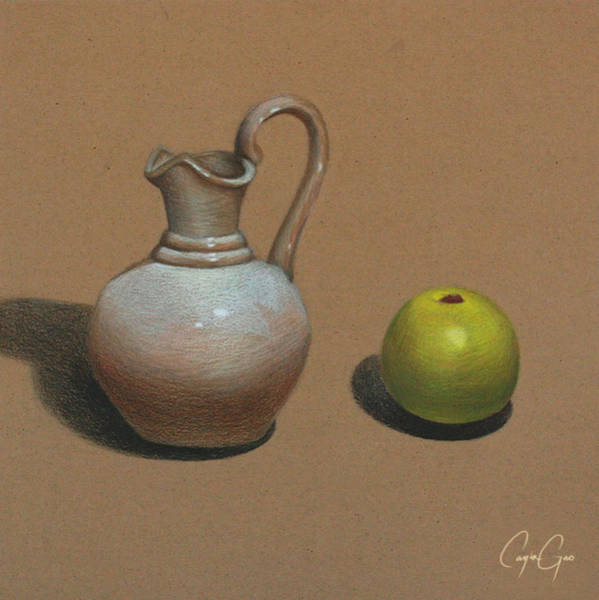Earthy Drawing - Still Life by Cayla Gao
