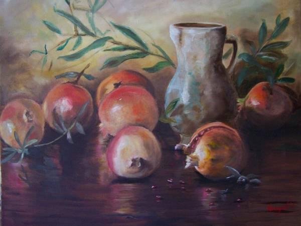Lagos Painting - Still Life by Evangelos Lagos