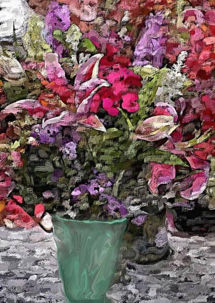 Wall Art - Digital Art - Still Life Floral by David Lane