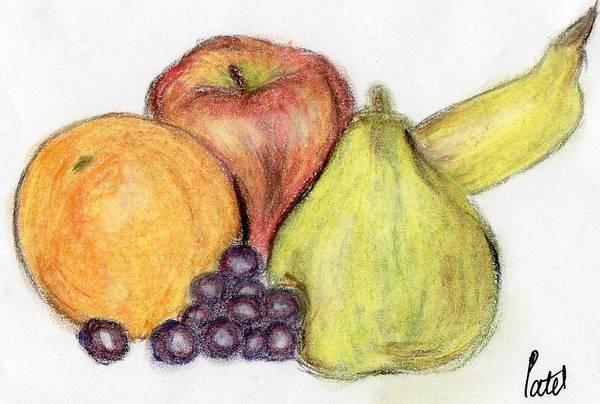 Juicy Drawing - Still Life - Fruit by Bav Patel