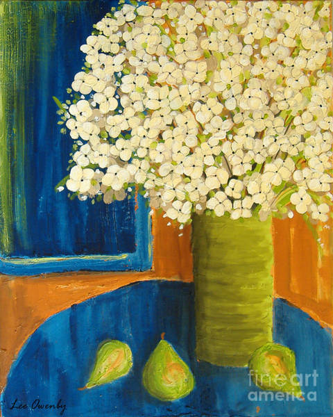 Painting - Still Life In Blue by Lee Owenby