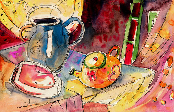 Painting - Still Life In Borgo In Italy 02 by Miki De Goodaboom