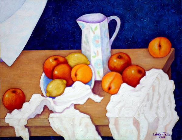 Painting - Still Life In Honor Of Cezanne   by Madalena Lobao-Tello