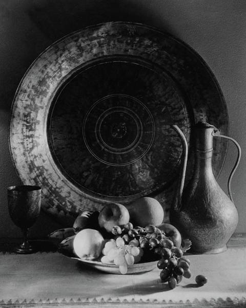 Citrus Photograph - Still Life Of Armenian Plate And Other by Joseph B. Wurtz