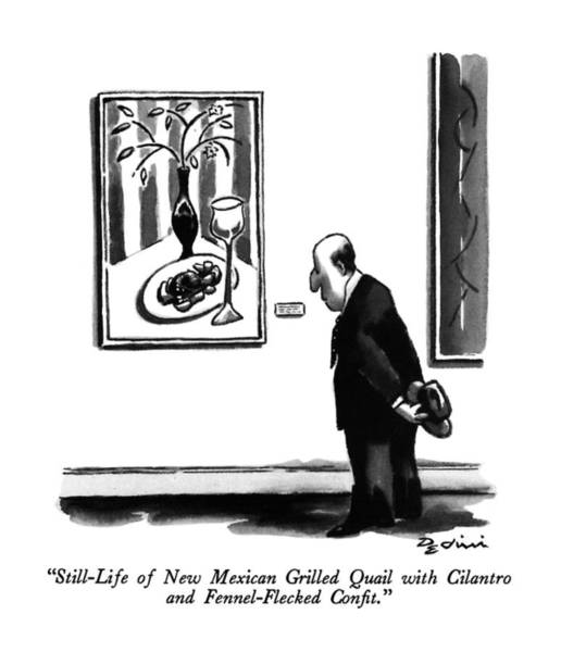 August 5th Drawing - Still-life Of New Mexican Grilled Quail by Eldon Dedini