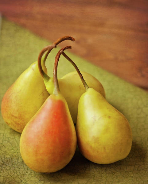 Wood Photograph - Still Life Of Pears by Carol Yepes