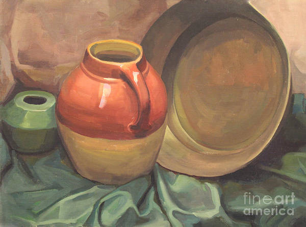 Painting - Still Life Of Pottery 1929 by Art By Tolpo Collection