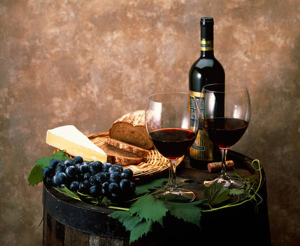 Wall Art - Photograph - Still Life Of Wine Bottle, Wine by Panoramic Images