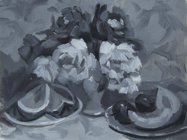 Monochromatic Painting - Still Life Tonal Study by Diane McClary