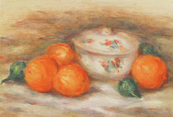 Renoir Wall Art - Painting - Still Life With A Covered Dish And Oranges by Pierre Auguste Renoir