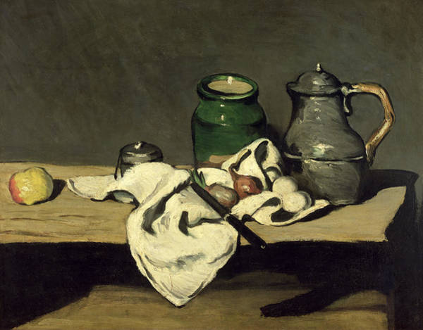 Cezanne Wall Art - Painting - Still Life With A Kettle by Paul Cezanne