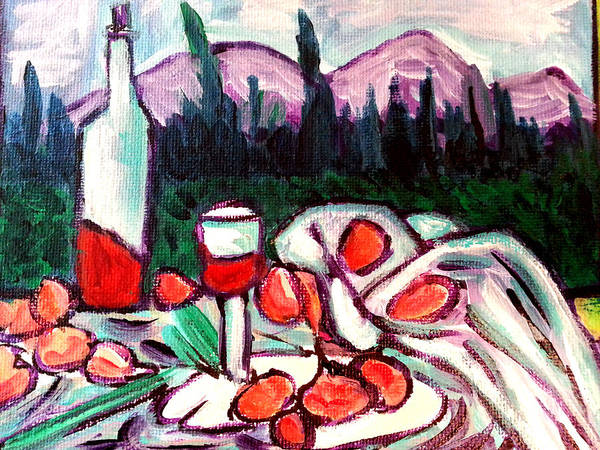 Painting - Still Life With A View by Nikki Dalton