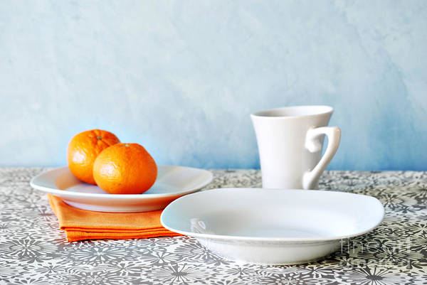 Coffee Mug Photograph - Still Life With Blood Oranges by HD Connelly
