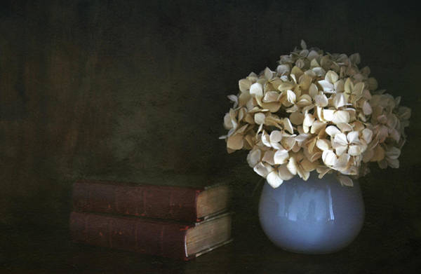 Vase Of Flowers Photograph - Still Life With Books And Flowers by Natalia Crespo