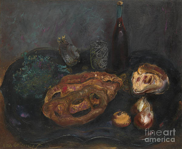 Painting - Still Life With Bread And Onions by Celestial Images
