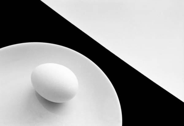 Contrast Wall Art - Photograph - Still Life With Egg by Peter Hrabinsky