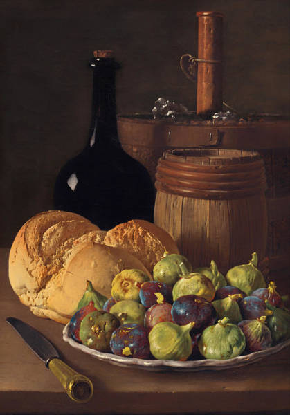 Churn Painting - Still Life With Figs And Bread by Mountain Dreams