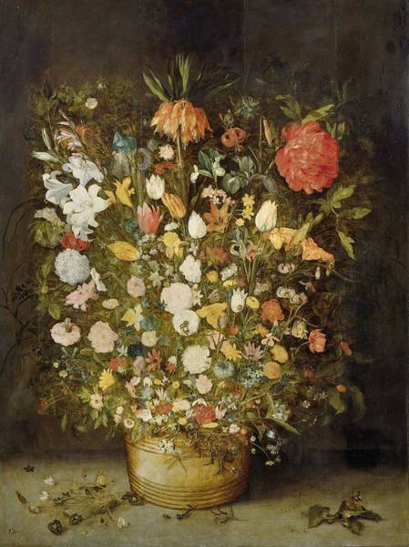 Painting - Still Life With Flowers by Anonymous