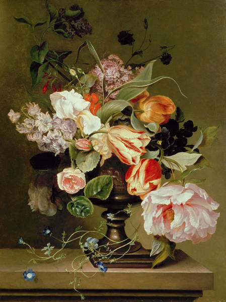 Wall Art - Painting - Still Life With Flowers  by Marie Geertruida Snabille