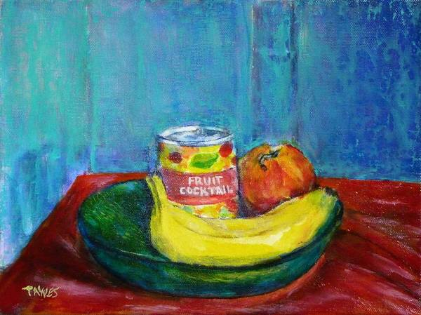 Still Life With Fruit And Humor Art Print