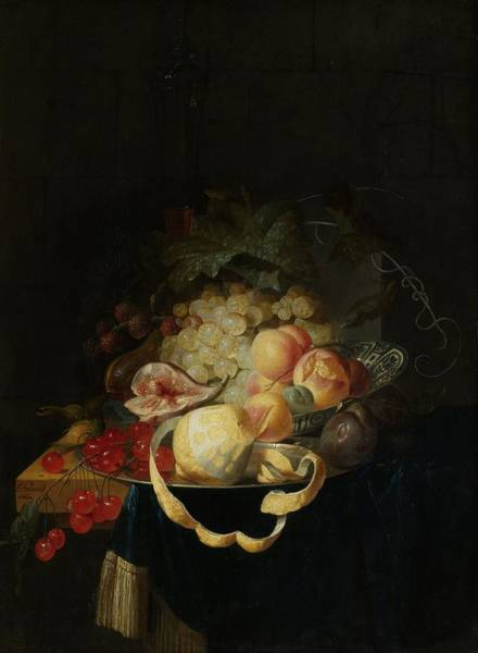 Painting - Still Life With Fruit by Johannes Hannot