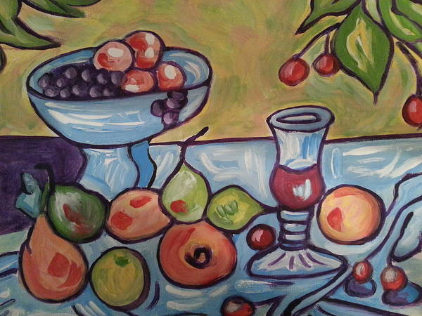 Painting - Still Life With Fruit by Nikki Dalton