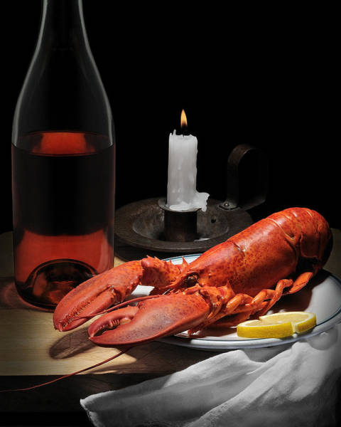 Wall Art - Photograph - Still Life With Lobster by Krasimir Tolev
