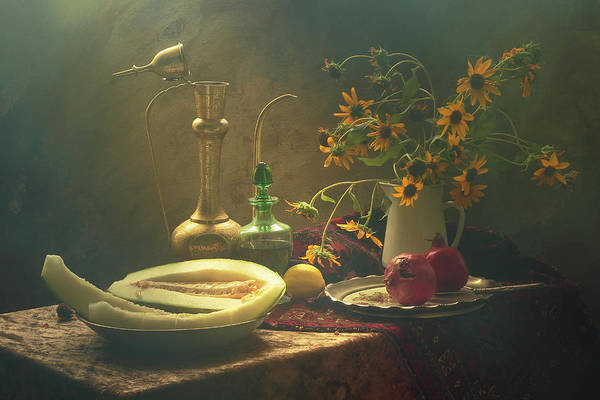 Brass Photograph - Still Life With Melon by Ustinagreen