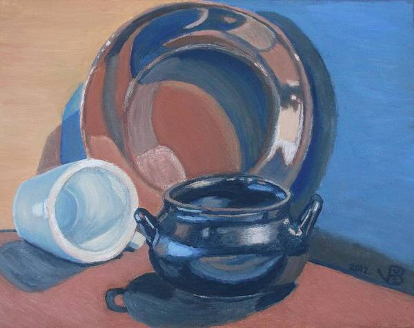 Painting - Still Life With Native American Reflections by Vera  Smith