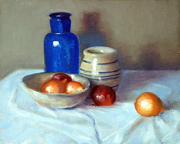 Onion Painting - Still Life With Onions by Armand Cabrera