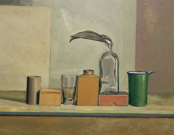 Enamel Wall Art - Painting - Still Life With Passion Pods  by William Packer