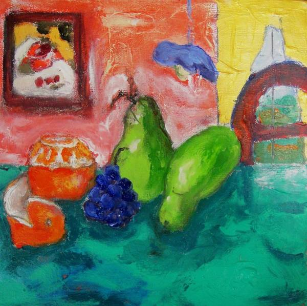 Painting - Still Life With Pears by Dilip Sheth