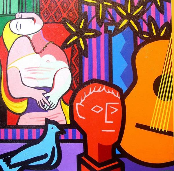 Picasso Painting - Still Life With Picasso's Dream by John  Nolan
