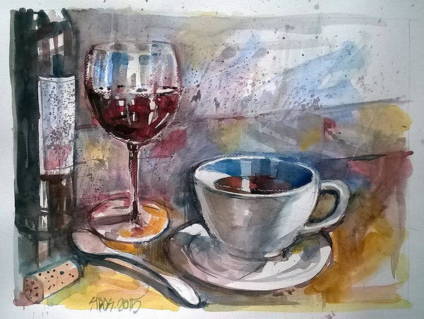 Painting - Still Life With Spoon. by Lorand Sipos