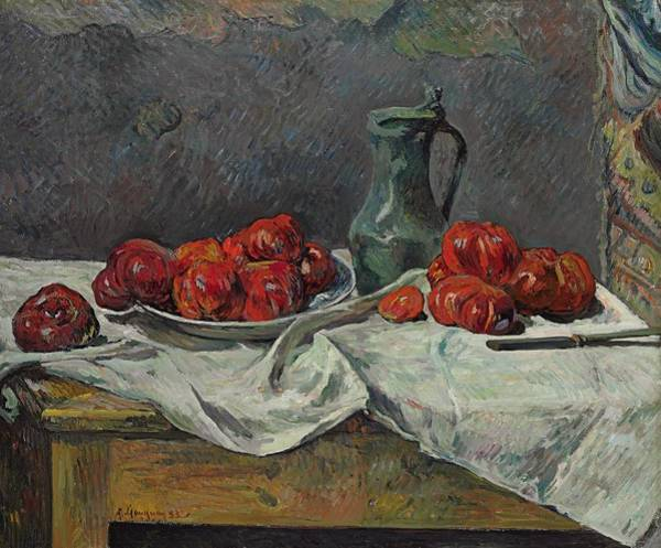 Post Modern Painting - Still Life With Tomatoes by Paul Gaugin