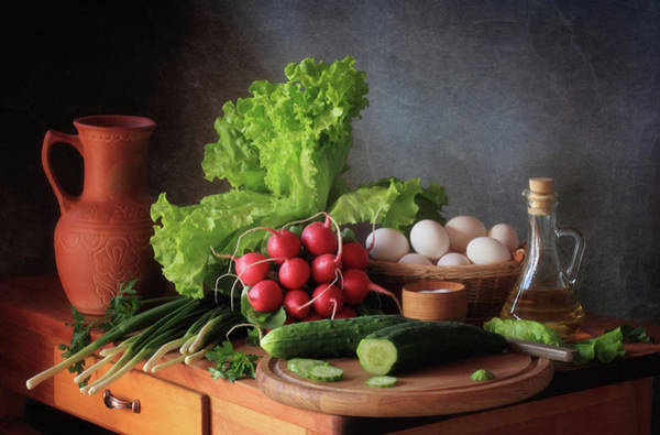 Egg Photograph - Still Life With Vegetables by ??????????? ??????????