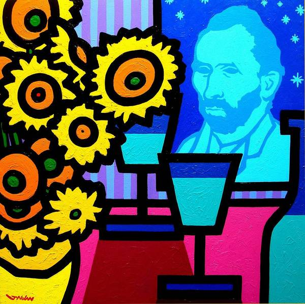 Wall Art - Painting - Still Life With Vincent by John  Nolan