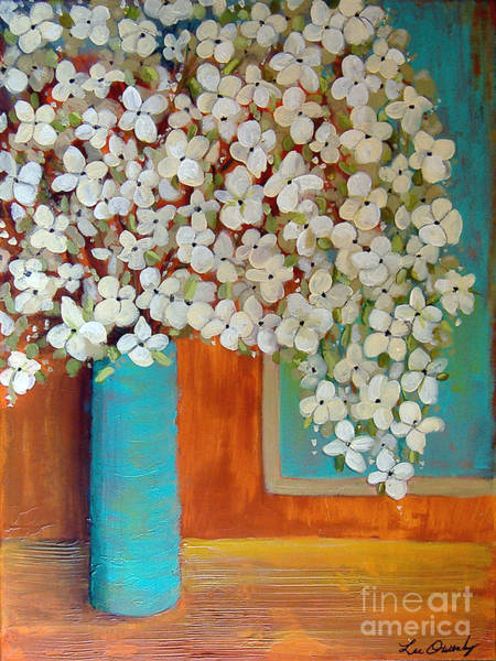 Painting - Still Life With White Flowers by Lee Owenby